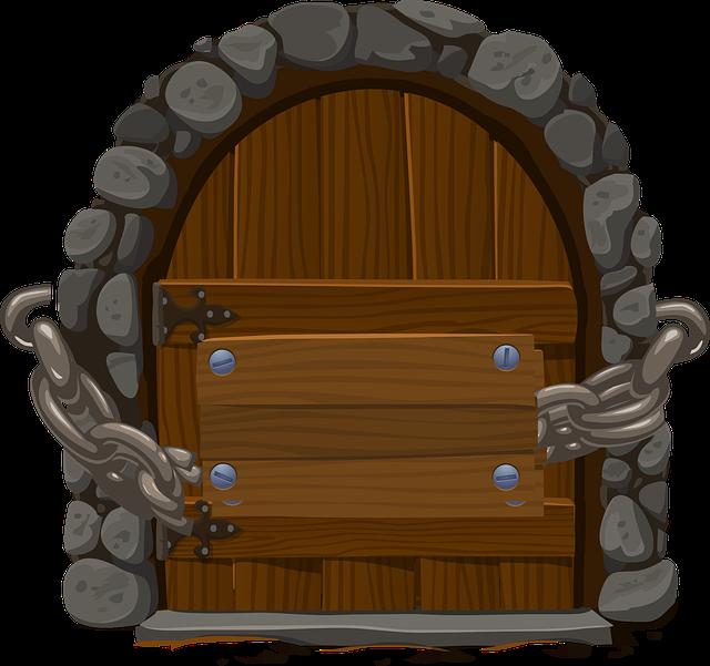řetěz na dveřích