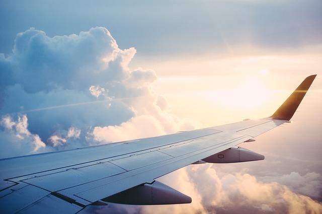 výhled z letadla